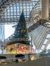 Christmas tree in Kyoto train station, Japan Royalty Free Stock Photo