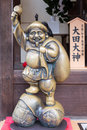 Kyoto, Japan novemer 24, 2016: The Ebisu brass statue in Kiyomiz Royalty Free Stock Photo