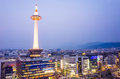 Kyoto japan skyline from top view Royalty Free Stock Photography