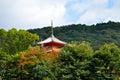 Kyoto Kiyomizudera temple pagoda roof Royalty Free Stock Photo
