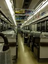 Kyoto metro train interior of the Stock Photography