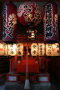 Kyoto Shrine Lanterns Royalty Free Stock Images
