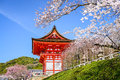 Kyoto Temples in the Spring Royalty Free Stock Photo