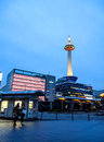 Kyoto tower with dusk sky kyoto japan april on april in is the capital city of prefecture located in the kansai Royalty Free Stock Image