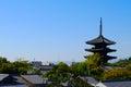 Kyoto traditional skyline Royalty Free Stock Photo