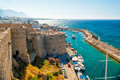 Kyrenia Castle, view of Venetian tower. Cyprus Royalty Free Stock Photo