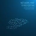 Kyrgyzstan network map.