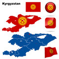Kyrgyzstan set. Royalty Free Stock Images