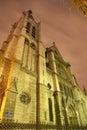 Kyrklig gotisk paris saintseverin Arkivfoto