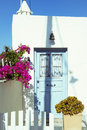 Kythera village the of island greece traditional house entrance Stock Image