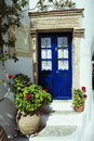 Kythera village the of island greece typical old house entrance Royalty Free Stock Photos