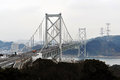 Kyushu-Honshu Bridge Royalty Free Stock Photo