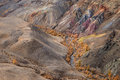 Kyzyl-Chin Valley,Altai Mountains,Russia.Colored Rocks Kyzyl-Chin Other Name Is Mars.Picturesque Martian Landscape From Multi-Co Royalty Free Stock Photo
