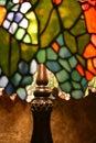 Lámpara del vidrio de la mancha de óxido Foto de archivo libre de regalías