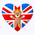 L anglais teddy bear Image stock