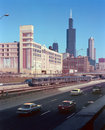 L'autoroute urbaine Chicago l'Illinois d'Eisenhower Images stock