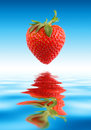 L'eau de fraise Photo stock