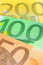 L'euro note le plan rapproché Photos libres de droits