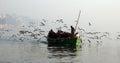 L'hiver à Varanasi Photos stock
