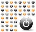 L'icona lucida ha impostato per le applicazioni di Web site Fotografie Stock