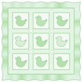 L'il Duckies Quilt, Pastel Green Stock Photography