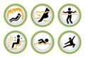 L'insieme del pittogramma di Wellness&Spa abbottona II Immagini Stock