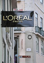 L oreal boutique in lisbon portugal november the st worldwide baixa district on november baixa is the most expencsive Royalty Free Stock Photo