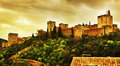 La alhambra in granada spain a view of Stock Photography