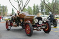 La Bestioni Rusty classic car on display Royalty Free Stock Photo
