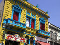 La boca buenos aires argentina south america buildings in the italian district of in in Royalty Free Stock Photography
