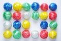 La bola colorida de Plastic Rope por creativo recicla Fotografía de archivo