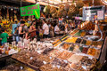 La boqueria barcelona spain july people visit and buy food in the most famous market in the city called in barcelona barcelona Stock Photography