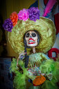 La Calavera Catrina, traditional personage of Mexican Day of the Royalty Free Stock Photo