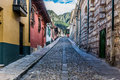 La Candelaria colorful Streets  Bogota Colombia Royalty Free Stock Photo
