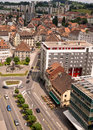 La chaux de fond switzerland aerial view of the most important centre of the swiss watch making industry it is the third largest Stock Images