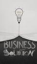 La corda di tiraggio della lampadina della matita aperta ha corrugato lo show business di carta Fotografia Stock