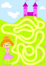Princess picking flowers maze game