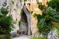 La cueva de la piedra caliza llamó a ear de dionysius en sicilia Imagen de archivo libre de regalías
