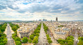 La defense business area grande armee avenue paris france view from arc de triomphe europe Stock Photo