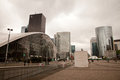 La defense paris business center in Royalty Free Stock Photos