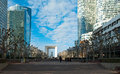 La defense in paris business district france with the grand arch the background Royalty Free Stock Photos