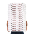 La distribution de pizza Photos stock