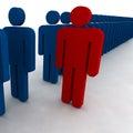 La gente 3d Fotografia Stock Libera da Diritti