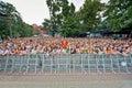 La gente ascolta il concerto del rock band di chaif Fotografia Stock Libera da Diritti