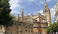 La giralda the famous cathedral of seville world Stock Photography