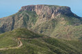 La Gomera landscape, The tableland La Fortaleza, Canary islands,