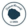 La Gomera map in vintage discover the world.