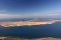 La graciosa island from mirador del rio view to lanzarote canary islands spain Stock Images