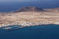 La graciosa island from mirador del rio view to lanzarote canary islands spain Stock Photos