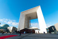 La grande arche de la defense grand arch at the business district in paris france Royalty Free Stock Photography